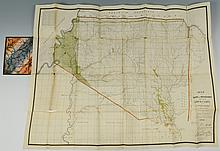 1835 Mississippi Map, Indian Lands