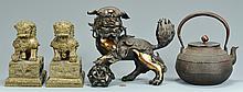 4 Asian Bronze & Iron Items