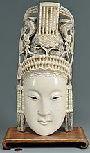 Chinese Carved Ivory Mask