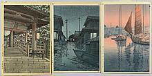 3 Hasui and Koitsu Woodblock Prints