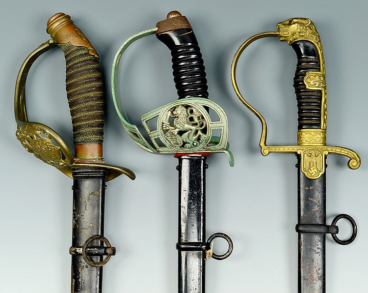 3 German WWI & WWII Swords