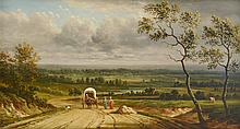 Manner of Conrad Chapman, Landscape with Covered Wagon