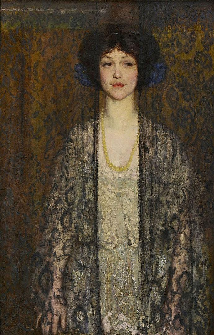 Philip Leslie Hale oil on canvas, La Donna
