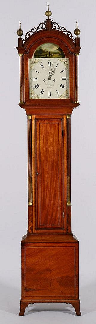 Simon Willard Labeled Tall Case Clock
