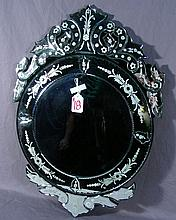 ROUND VENETIAN GLASS MIRROR