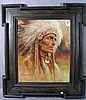 TROY DENTON OIL ON CANVAS:  INDIAN