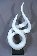 VERY FINE MODERN COMPOSITION AND MARBLE SCULPTURE