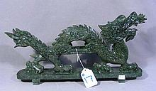 CHINESE HAND CARVED HARDSTONE DRAGON