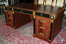 SPECTACULAR HAND CARVED AND INLAID ITALIAN DESK