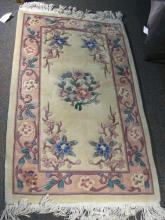 CHINESE HAND KNOTTED WOOL AREA RUG