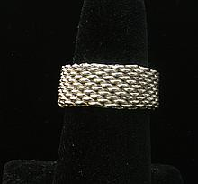 TIFFANY & CO. FLEXIBLE STERLING SILVER RING