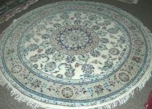 FINE HAND KNOTTED NIAN ROUND AREA RUG