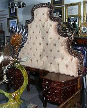 VERY UNUSUAL HAND CARVED PERUVIAN KING SIZED BED