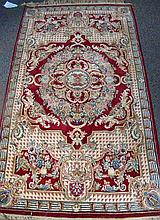 BEAUTIFULL HAND KNOTTED VERSACE STYLE AREA RUG