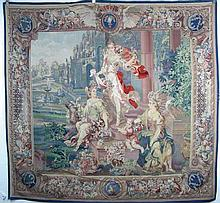 SPECTACULAR HAND WOVEN AUBUSSON TAPESTRY