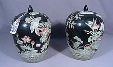 PAIR CHINESE PORCELAIN GINGER JARS