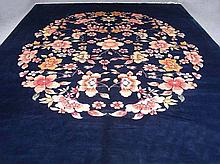 HAND KNOTTED ART DECO AREA RUG