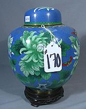 CHINESE CLOISONNE COVERED GINGER JAR