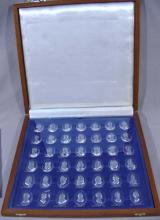 BOXED SET OF THE ROYAL CRYSTAL CAMEOS