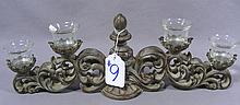 DECORATIVE COMPOSITION FOUR LIGHT CANDLE HOLDER