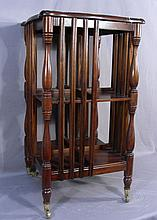 FINE HAND CARVED MAHOGANY BOOK CASE