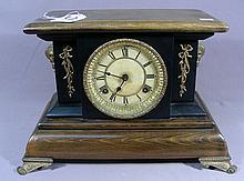 ORNATE WOODEN MANTLE CLOCK