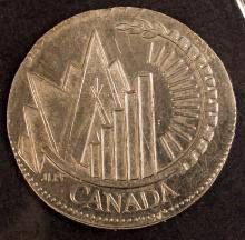 1999 Millennium Quarter, December, struck on a Nickel 10c planchet