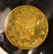 California Gold, $1/4, 1871, BG-838