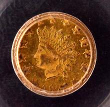 California Gold, $1/2, 1876/5, BG-1059, AU Details