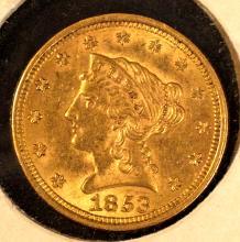 Liberty $2? Gold, 1853, AU