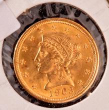Liberty Gold Quarter Eagle, 1903