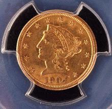 Liberty $2? Gold, 1904, PCGS AU-58