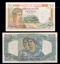 France Banknote lot