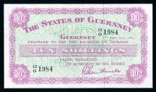 Guernsey 10 Shillings, 1961, Unc