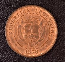 Argentina, 2 Centavos, 1878, Essai