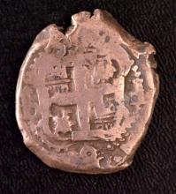 Bolivia Cob 8R, 1699; Peru Cob 4R, 1728