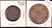 Bolivia Pillar $1; Peru Pillar Quarter