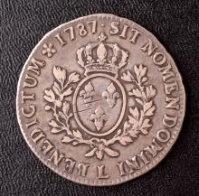 Brazil, 640 Reis, 1779; France, Ecu, 1787L