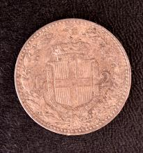 Italy, 2 Lire, 1897, BU