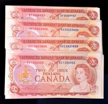 1974 $2, EF to EF+, 26 notes
