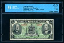 Royal Bank $5, 1943