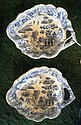 A pair of early 19th century pickle dishes, each