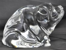 WATERFORD CRYSTAL LARGE PIG PAPERWEIGHT