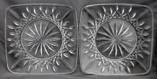 2 WATERFORD CRYSTAL LISMORE PLATES