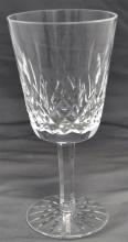 8 WATERFORD CRYSTAL LISMORE WATER GOBLETS