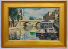 JEANNE BESNARD-FORTIN (1892-1978) OIL ON PANEL