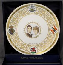 ROYAL WORCESTER CHARLES & DIANA The ROYAL MARRIAGE PLATE 1981