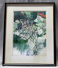 R. JOHN HOLMGREN (1897- 1963) GOUACHE NEW HAMPSHIRE