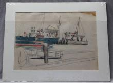 ORIGINAL R. JOHN HOLMGREN ILLUSTRATION PORTLAND MAINE 1930s