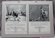 R. JOHN HOLMGREN (1897- 1963) ONYX HOSIERY 2 VOGUE TEAR SHEETS